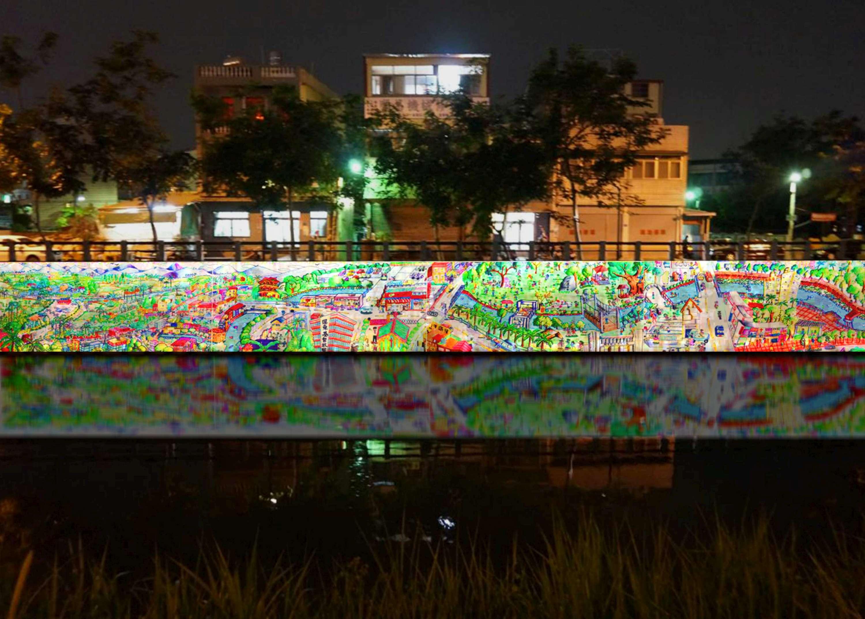 屏東綵燈節-會動的萬年溪上河圖