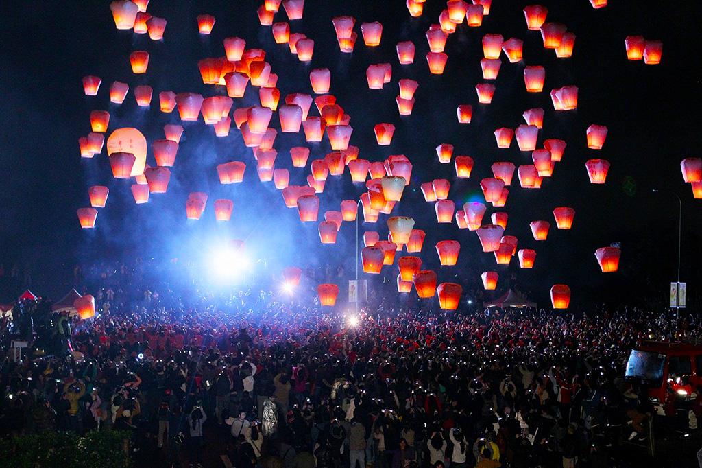 Lámparas en el cielo de Pingxi
